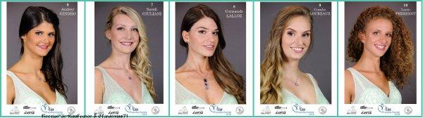 Candidates Miss Franche-Comté 2018