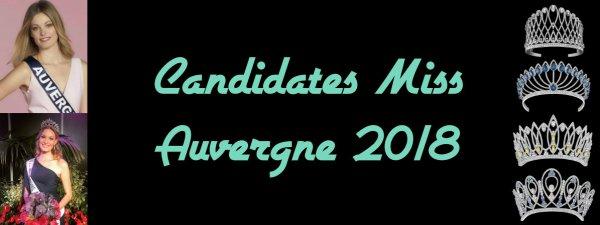 Candidates Miss Auvergne 2018