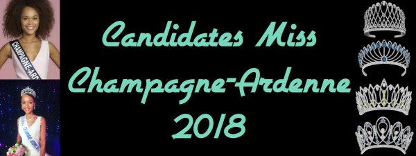 Candidates Miss Champagne-Ardenne 2018