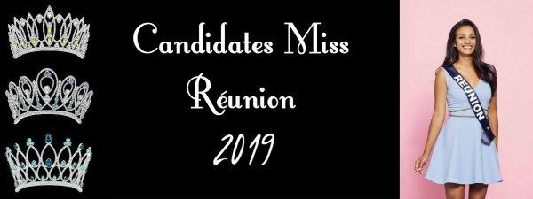 Candidates Miss Réunion 2019