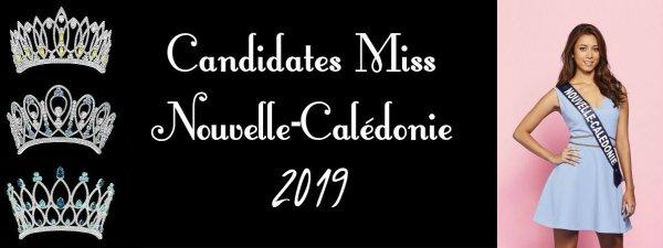 Candidates Miss Nouvelle-Calédonie 2019