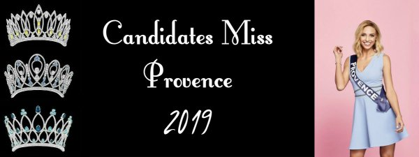 Candidates Miss Provence 2019