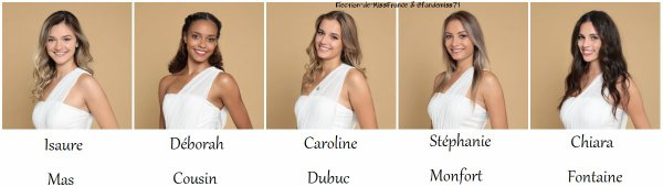 Candidates Miss Languedoc-Roussillon 2020