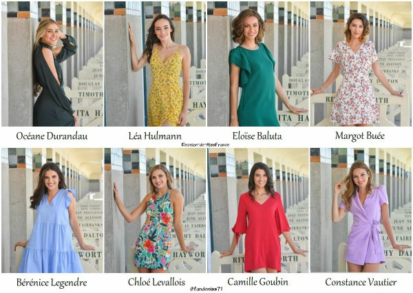 Candidates Miss Normandie 2020