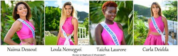 Candidates Miss St-Martin - St-Barthélémy 2020