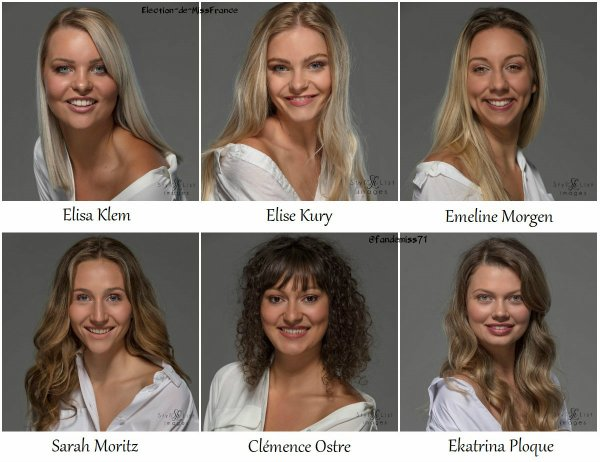 Candidates Miss Alsace 2020