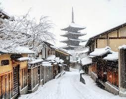 kyoto sous la neige joli non?