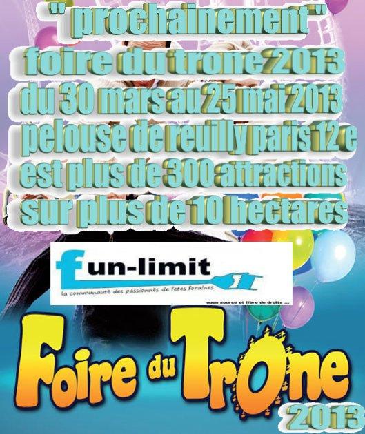 """"""" prochainement foire du trone ediction 2013 !!! """""""