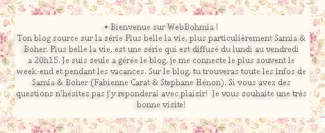 • Bienvenue sur WebBohmia !