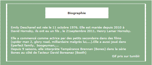 Biographie d'Emily Deschanel