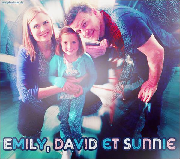 Emily, David et Sunnie Twitter Photo