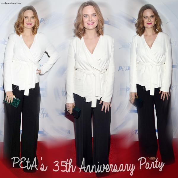 Emily était à la fête pour le 35 eme anniversaire de la Peta - Vidéo 1 - Vidéo 2 - + photos
