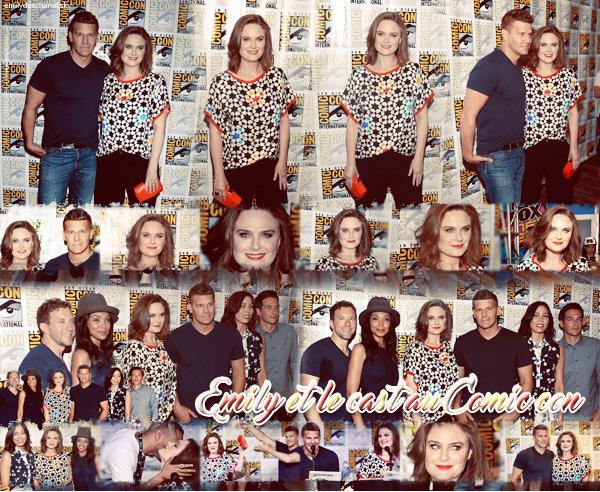 Emily et le cast de bones au Comic con