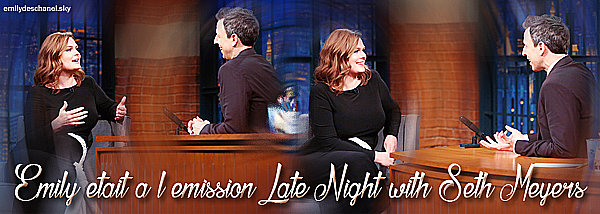 Emily dans l'émission Late Night