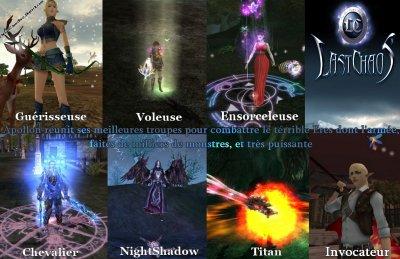 Les différents personnages