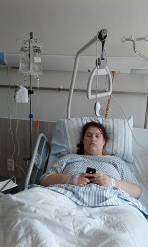 l'opération et l'hospitalisation