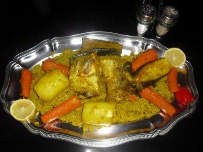 THIEP BOU DIEN  (riz au poisson) ou Thiep yap (riz à la viande)