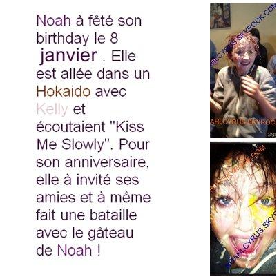 - NEWS - Noah Cyrus fête son anniversaire !
