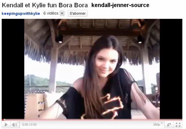 Kendall Kylie ainsi que toute leur famille sont parties pour 9 jours à Bora Bora :) Kendall et Kylie en ont profitée pour faire quelques vidéos qu'elles ont ensuite misent sur leur page You tube! Plus la vidéo de la saison 6 de KUWTK