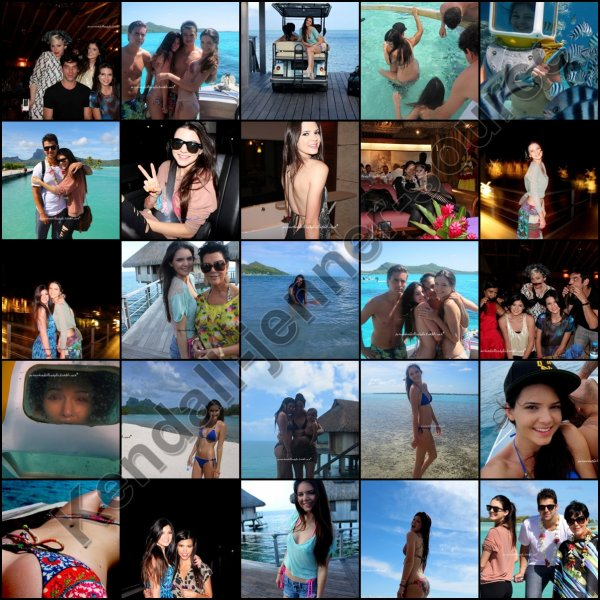 Kendall et sa famille a Bora Bora ! Voici quelques phots de Kendall et Kylie en attendant un montage de la co-webmiss si elle a le temps