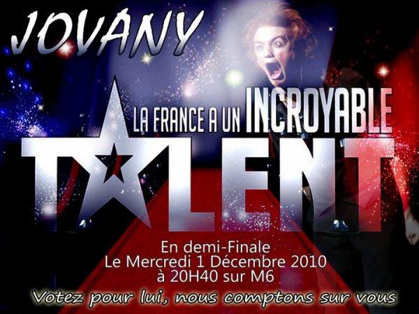 JOVANY Incroyable Talent sur M6 Votez pour lui =)