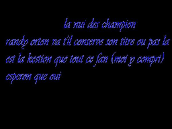 LA NUIS DES CHAMPION