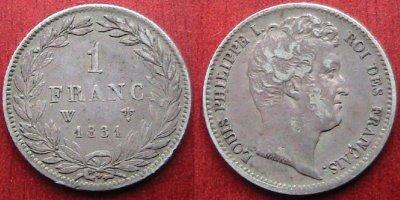 1 franc 1831 w