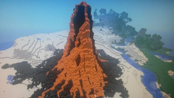 Eruption Volcanique dans minecraft ?