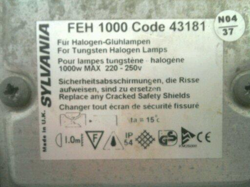 H1  FEH 1000 Code 43181