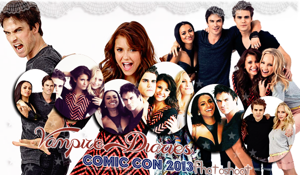 . TVD-TheVampireDiaries-FR TVD & TO Comic Con 2013 Photoshoot .