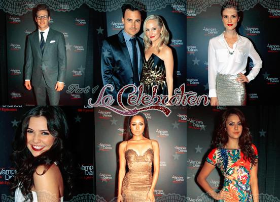. TVD-TheVampireDiaries-FR La célébration du 100ème épisodes de TVD le 09/11/2013 .