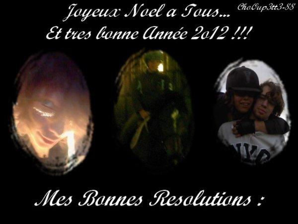 Adieu 2o11 et Bonjour 2o12