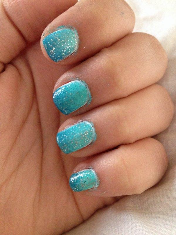 ~Summer~ #1 nail art effet mer