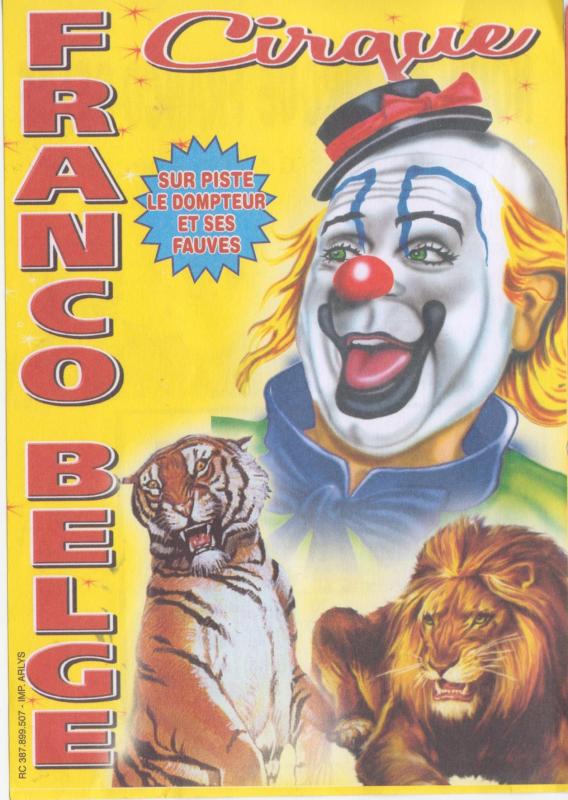 Flyer cirque Franco-belge