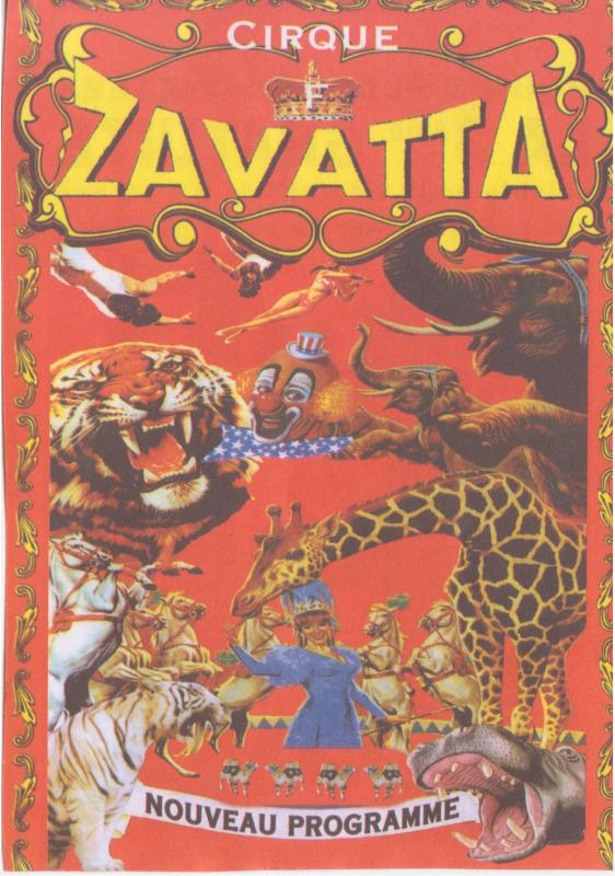 Flyer cirque Fabio Zavatta