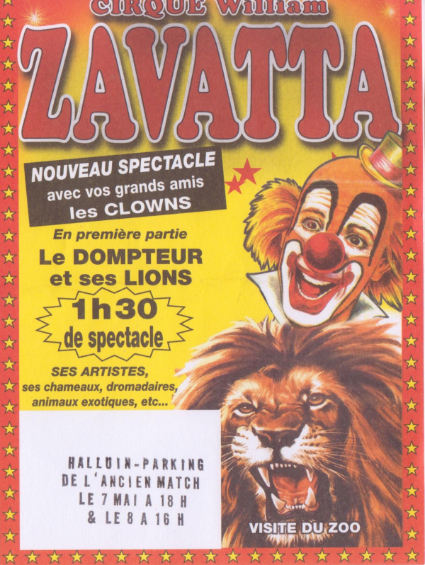 flyer cirque William Zavatta
