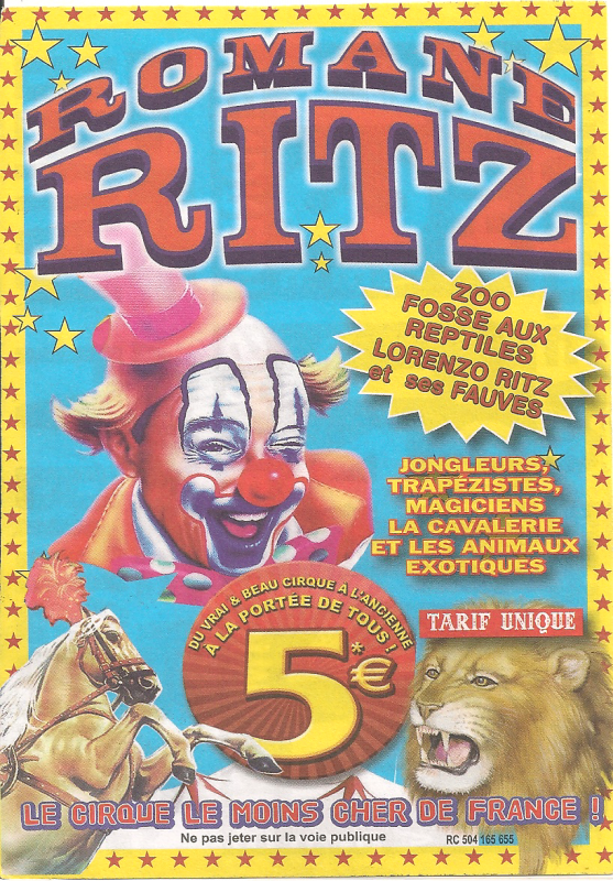 flyer cirque Romane Ritz