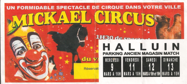 Flyer cirque Michael Circus