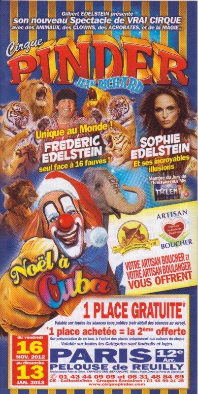 Flyer cirque Pinder