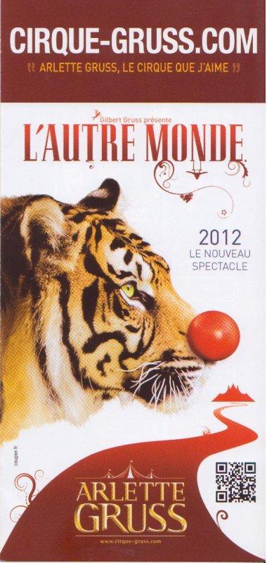 flyers cirque Arlette Gruss