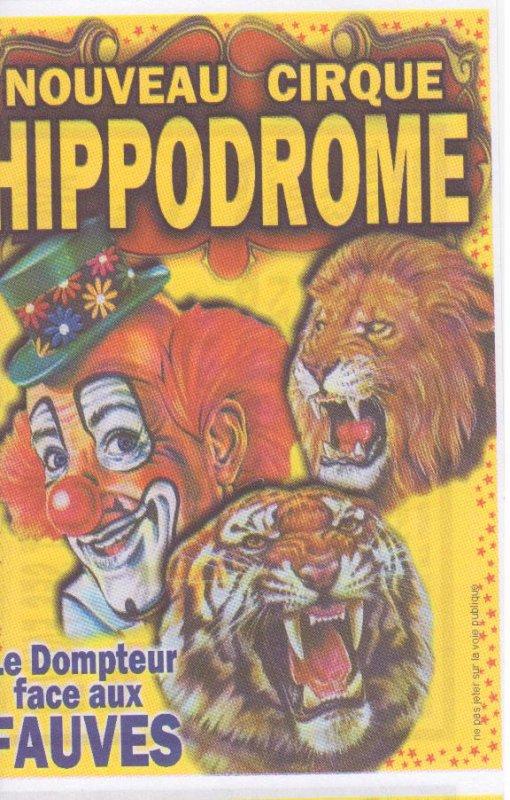 flyer nouveau cirque Hippodrome
