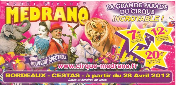 Flyers cirque Medrano suite