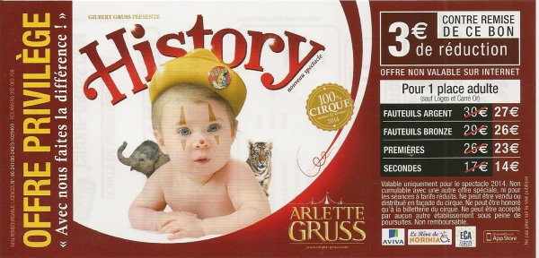 Suite flyer cirque Arlette Gruss