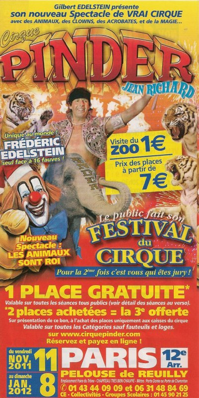 Suite flyer cirque Pinder