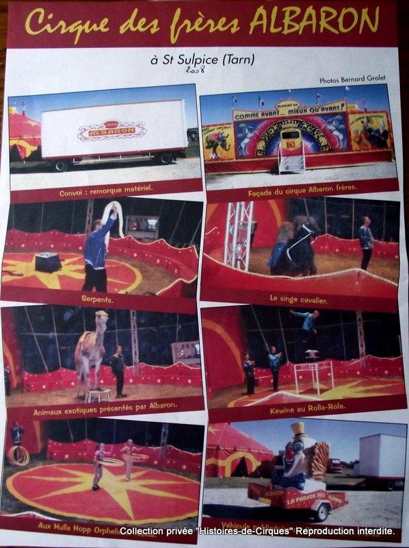 Le Cirque ALBARON en 2008