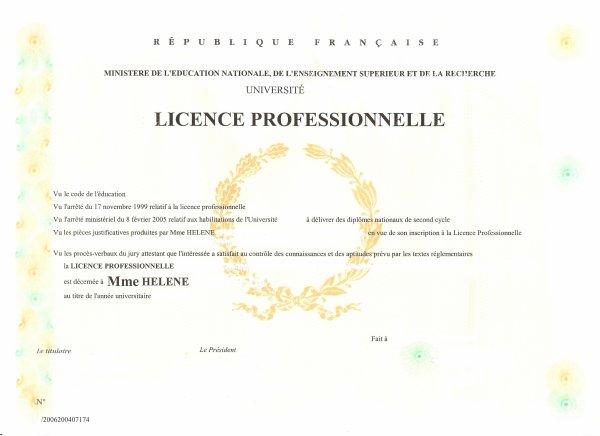 J'ai eu mon diplôme de licence professionnelle SBP !!! mention AB (3eme de promo)