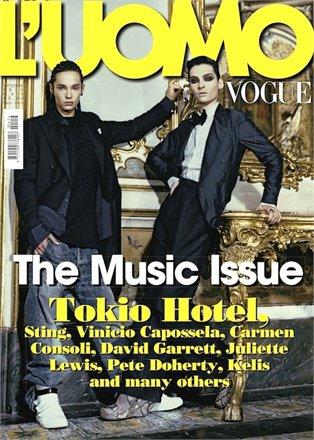 Tom & Bill en couverture du Vogue Homme Italien - Octobre 2010.