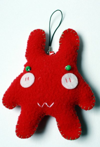 Peluche Rouge a accrocher