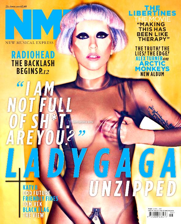 Lady Gaga fera la couverture du magasine américain NME. Elle a été habillée par son ami Nicola Formichetti et prise en photo par Mariano Vivanco.