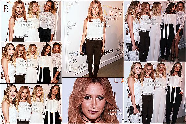* 09/09/15 : Ashley  s'est rendue au défilé de Lauren Conrad dans le cadre de la « Fashion Week »  - à New York. Ashley Tisdale est vraiment ravissante. J'aime bien la tenue qu'elle porte, ça fait classe et ça lui va à merveille je trouve. Je lui donne donc un Top.  *